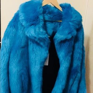 DVF faux fur NWT